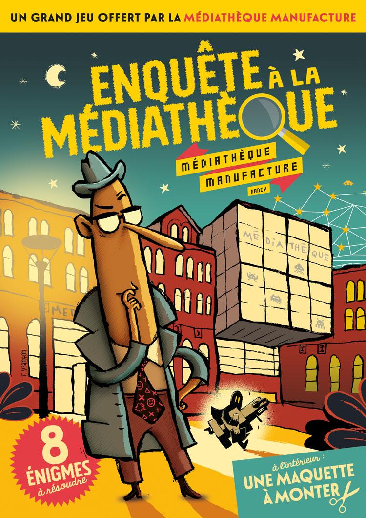 Enquête à la Médiathèque la couverture