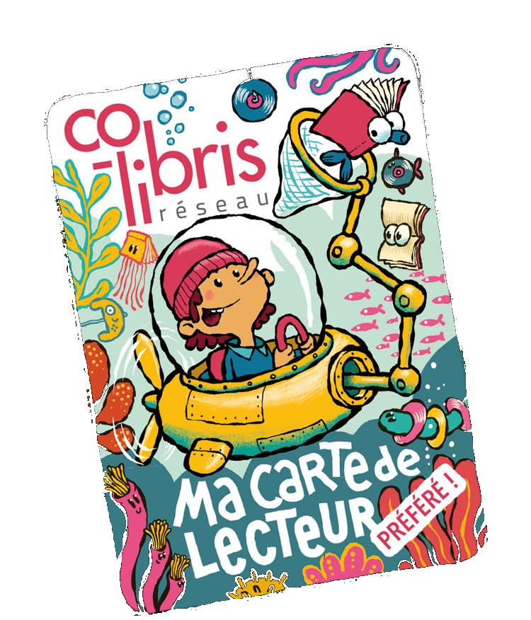 Plongée dans la lecture : Carte Co-Libris