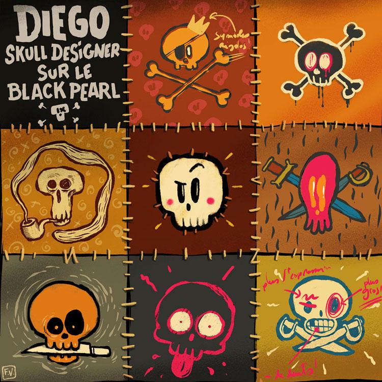 Diego, skull designer sur le Black Pearl