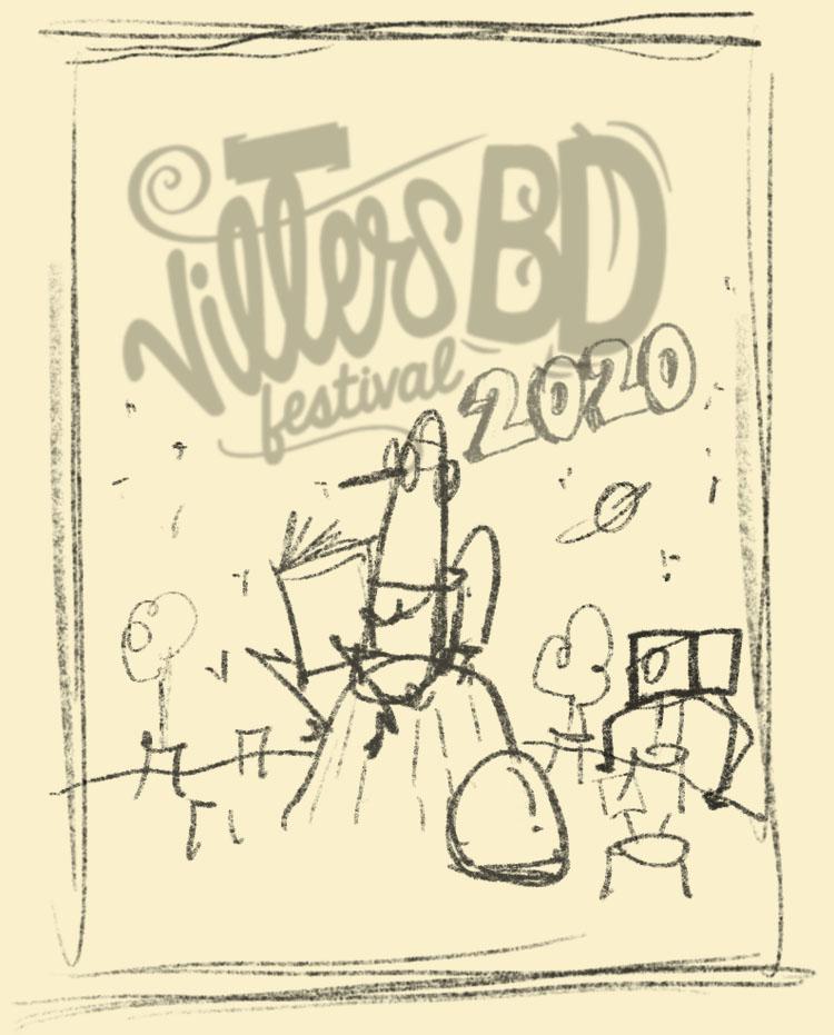 esquisse affiche villers bd 2020
